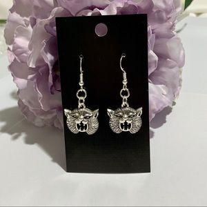 Wildcat Fashion Dangle Earrings